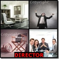DIRECTOR- 4 Pics 1 Word Answers 3 Letters