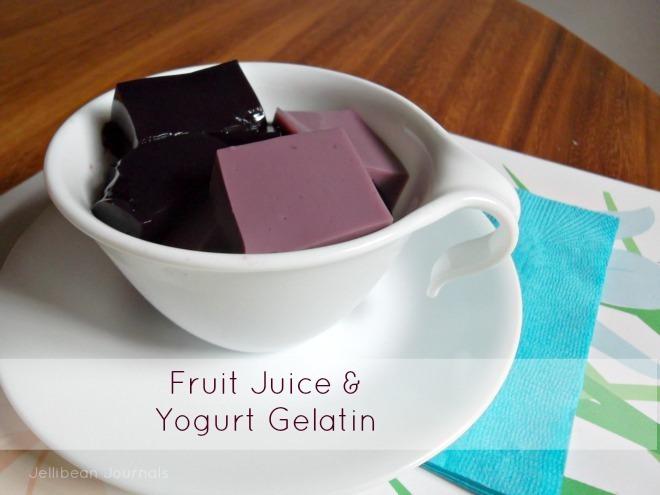 fruit juice and yogurt gelatin