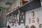 Antique molds were also made from tin, ceramic, and even wood, but copper is the favorite for collecting, and for good reason.  They're really beautiful, don't you think?