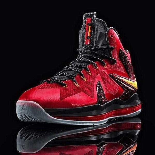 Nike LeBron 10 X Bred Red White