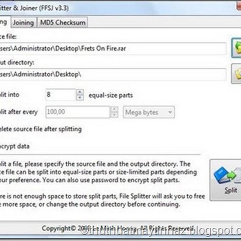 Download FFJ Fastest File Splitter and Joiner
