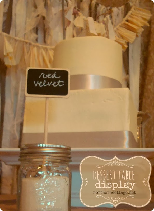 Dessert Table with Romantic Backdrop {Northern Cottage}