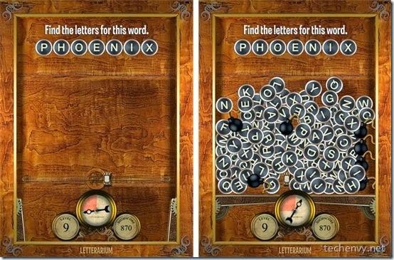 Letterarium game app