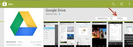 การฝากไฟล์ใน Google drive ใน Android
