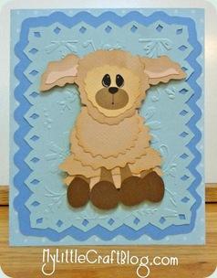 evelyn boy lamb card