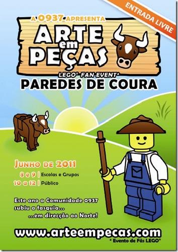 cartaz arte em pecas 2011