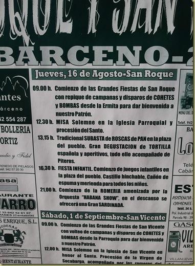 cartel de fiestas cabarceno