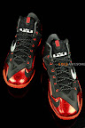 nike lebron 11 gr black red 1 07 New Photos // Nike LeBron XI Miami Heat (616175 001)