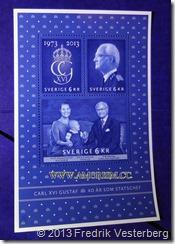 DSC09468 (1) Frimärken kung Carl XVI Gustafs 40 årsjubileum. Med amorism