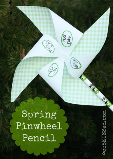 Pinwheel Pencil Spring Craft obSEUSSed