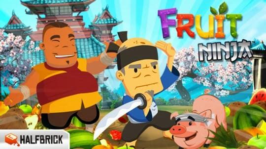 لعبة تقطيع الفواكه Fruit Ninja Free للأيفون والأيباد