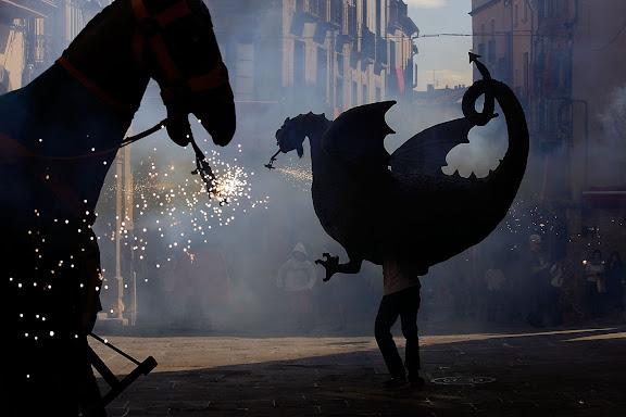 El Drac. Festa major de Solsona. Solsona, Solsonès, Lleida