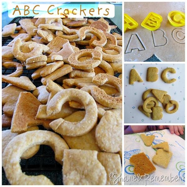 Homemade ABC Crackers