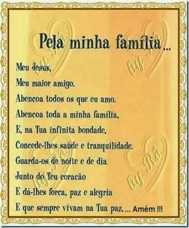 ORAÇÃO PELA MINHA FAMÍLIA