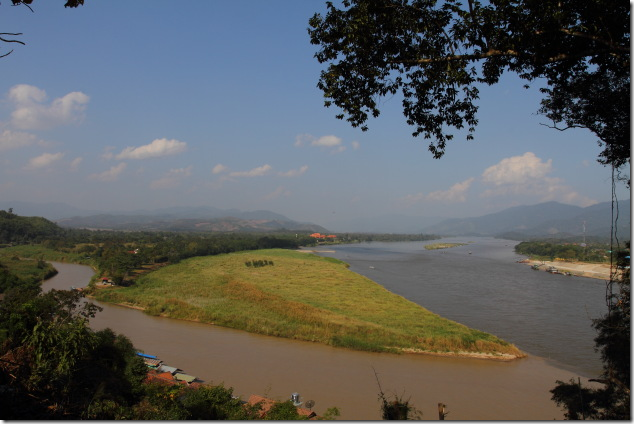 Confluence of Ruak and Mekong Rivers at the Golden Triangle