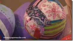 easter eggs with fabric