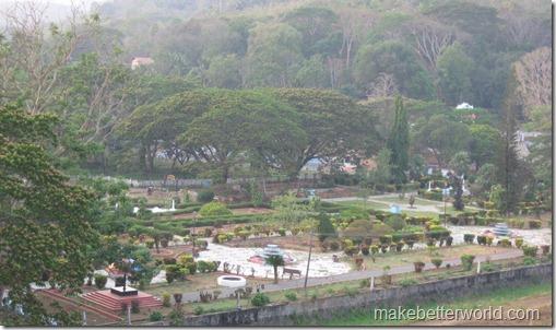 Vazhani Dam garden