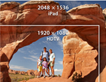 iPads retina display has more pixels than HDTV!