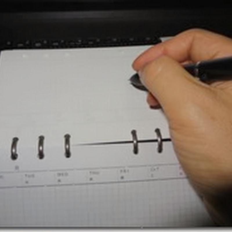 システム手帳(バイブルサイズ)を横置きで使う時の工夫。良いのを見つけました【スライド手帳】