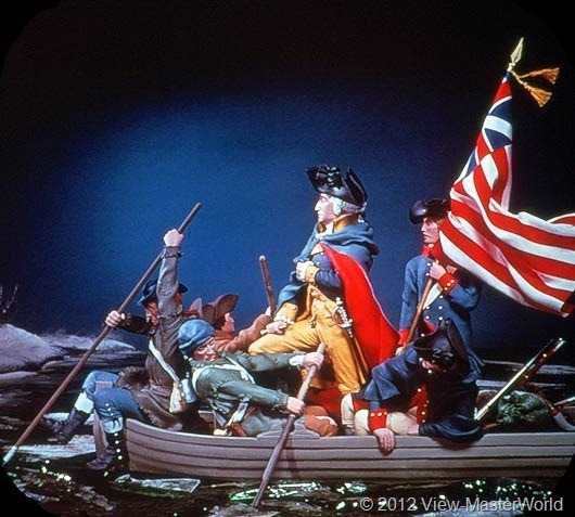 View-Master The Revolutionary War (B810), Scene B5: Washington Crosses the Delaware, 1776