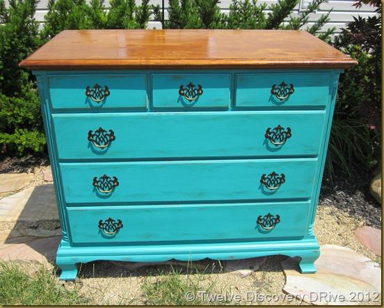 Teal Dresser 027