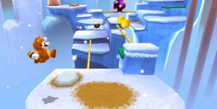 Tanooki Mario em 3D Land. Mario é um encanador e não caçador. Ele só maltrata tartarugas...