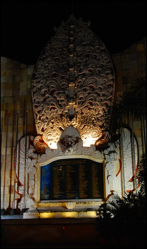Bali Bombing Memorial by night