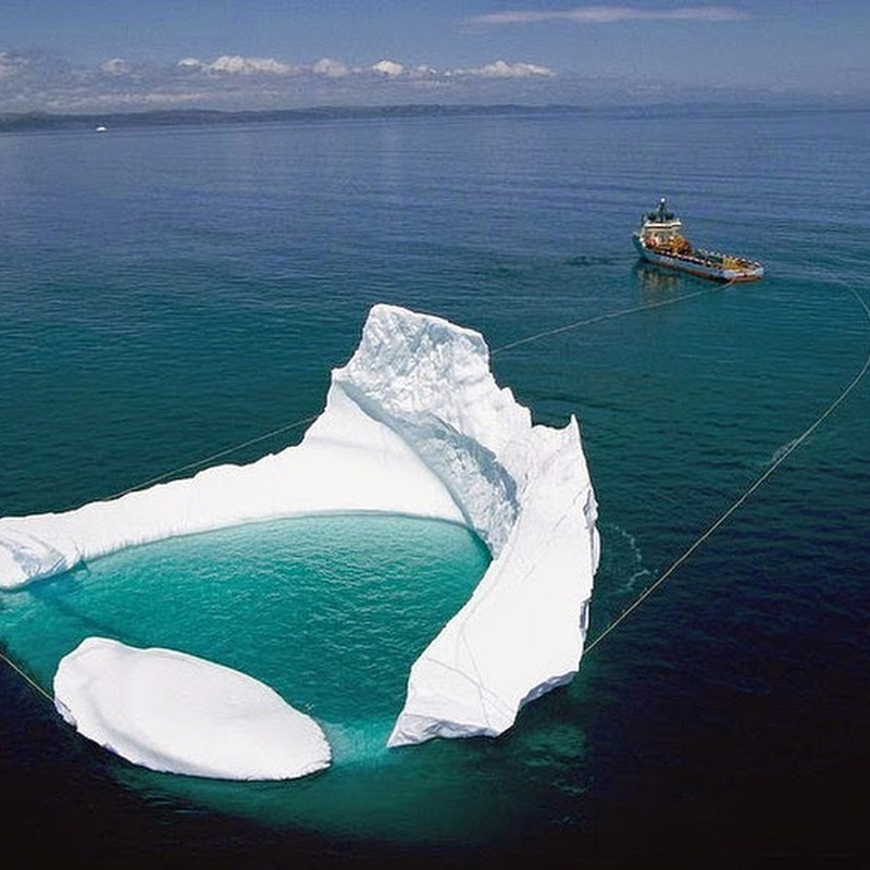 Towing Icebergs Away From Oil Platforms