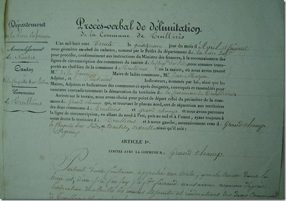 extrait du PV du débornement de 1830