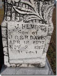 J. Henry Davis Tombstone