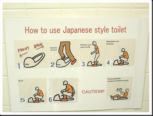 how to use japanese toilet