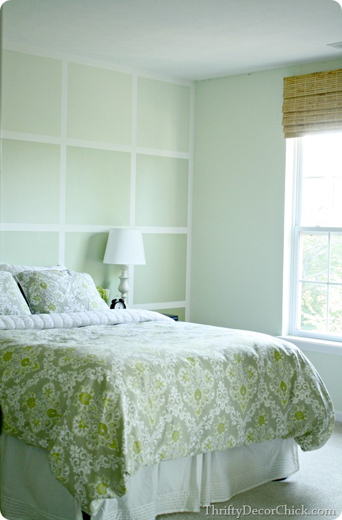 ombre wall with squares