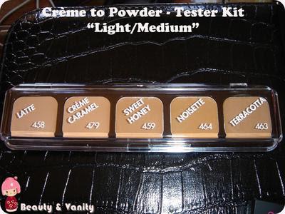 "Fondotinta Crème To Powder - Tester Kit in ""Light/Medium"""