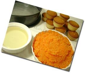 Bizcocho, tarta de zanahorias, coco y cupcakes (magdalenas) 002