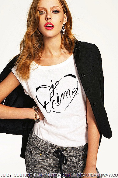 JUICY COUTURE Fall Winter 2011 Je Taime Tee, Jacket