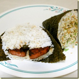 18 Spam Musubi and ume musubi