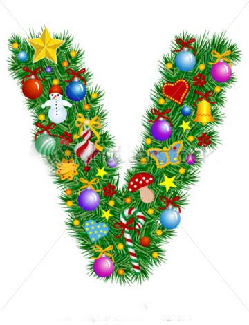 Moldes letras de navidad - Alphabet noel ...