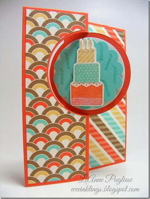 LeAnne Pugliese WeeInklings Stampin Up Make A Wish Birthday Card Circle Card Thinlit