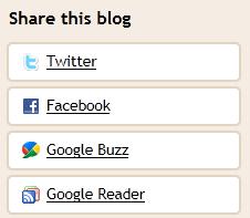 navbar share option