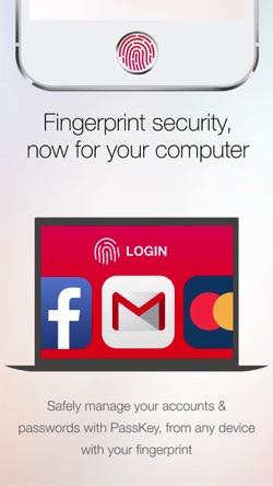指紋認証でウェブサイトへ安全にログインするアプリ
