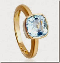 Blue Topaz Cushion Cut Ring by Kiki at Astley Clarke
