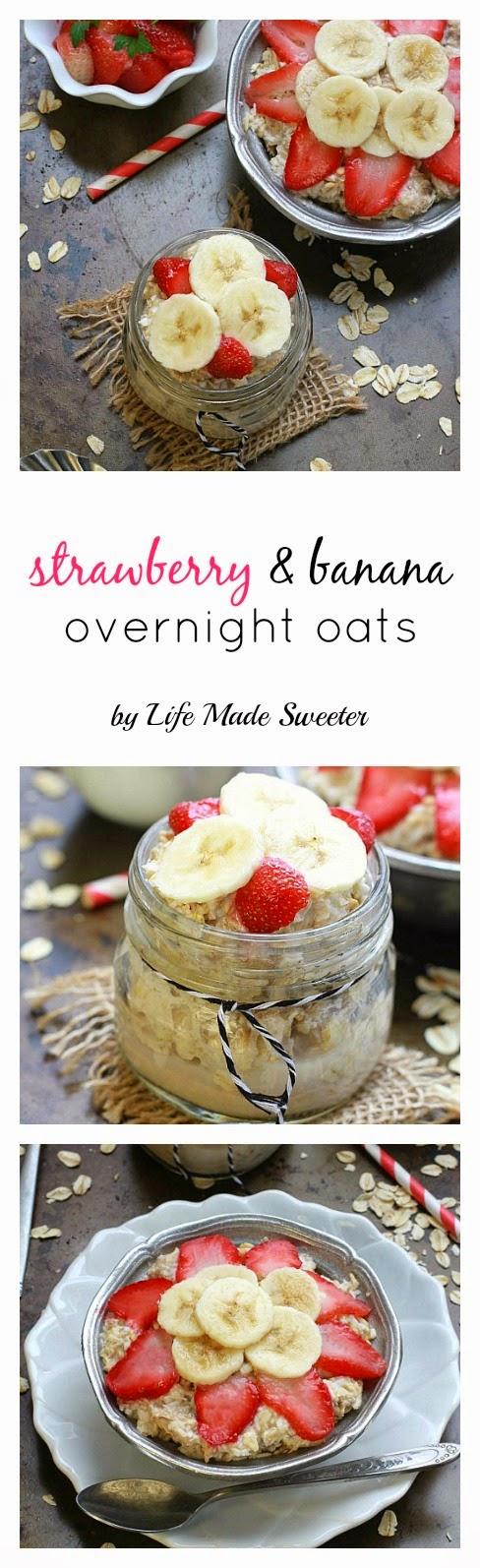 Strawberry, Banana & Coconut Overnight Oats via @LifeMadeSweeter.jpg