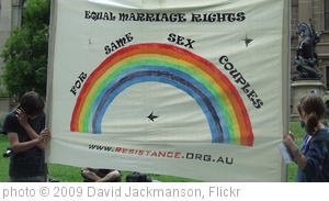 'Same Sex Marriage Rally, State Library of Victoria, Swanston and La Trobe Sts, Melbourne City, Victoria, Australia 091128-17' photo (c) 2009, David Jackmanson - license: http://creativecommons.org/licenses/by/2.0/