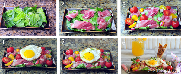 PLT Breakfast Salad Pictorial