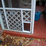 Dog door and Fence