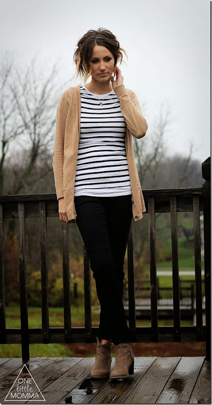 stripes, black and tan
