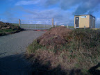 This access was made ot llow the film crew access the beach from the field where they established the production centre