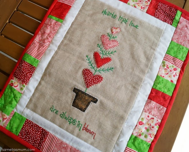 Valentine's Day Swap Mini Love Quilt by A Stitch in Between