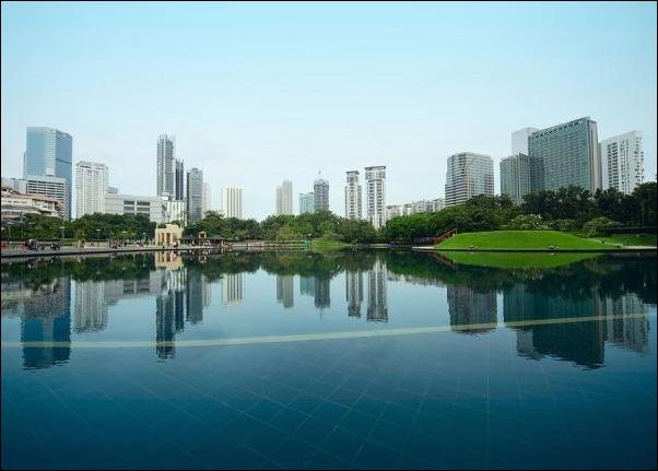 17. Kuala Lumpur, Malaysia reflection in water
