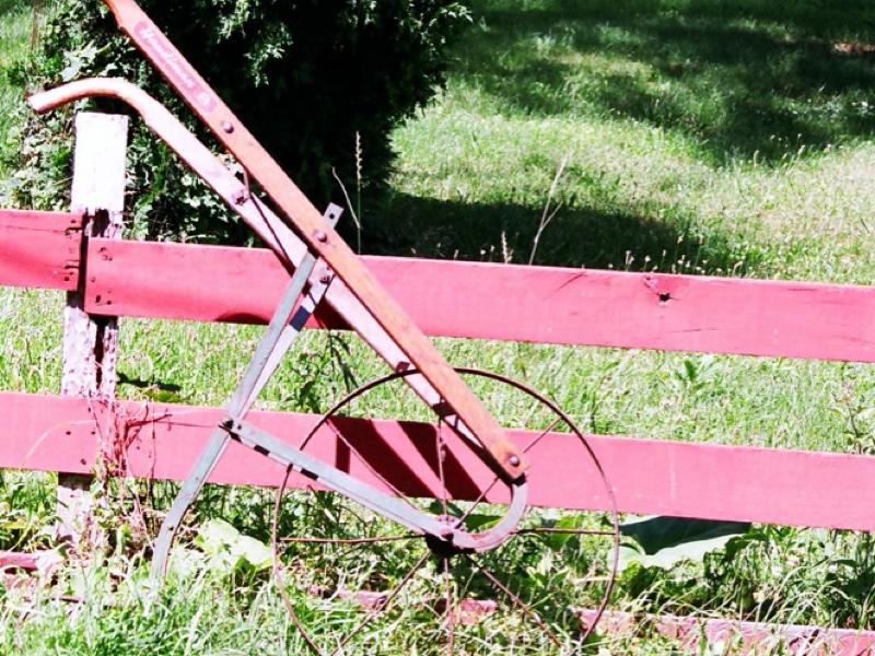 Vintage Push Plow Garden Cultivator Ebay